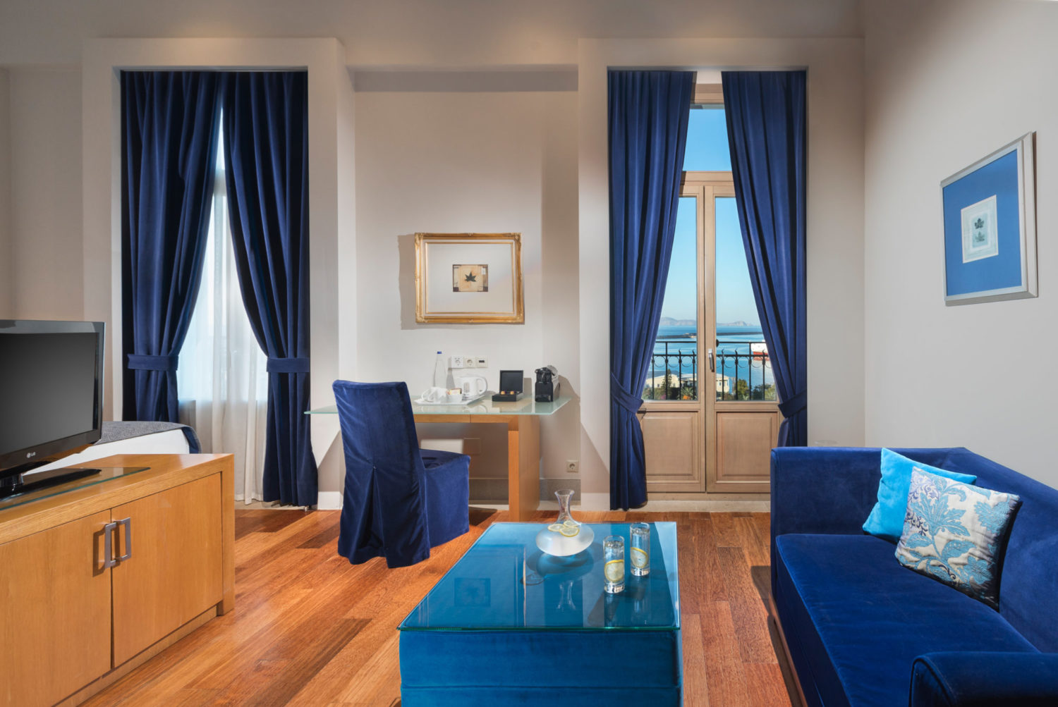 Junior Suite Sea View at Megaron Hotel in Heraklion Crete