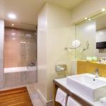 Heraklion Crete Junior Suite Sea View Megaron Hotel bathroom
